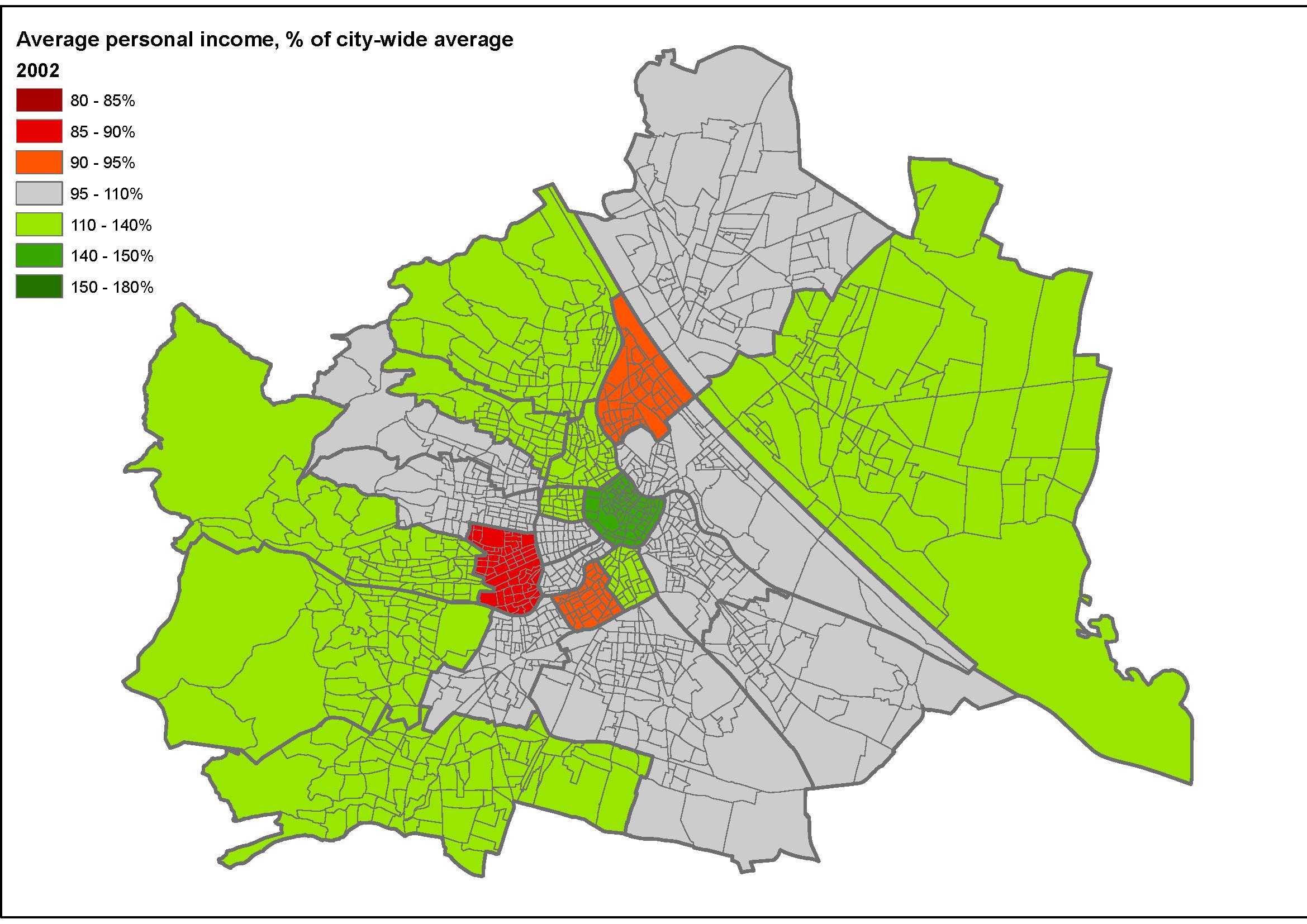 urbanizm einkommens entwicklung in wien anzeichen steigender sozial r umlicher polarisierung. Black Bedroom Furniture Sets. Home Design Ideas