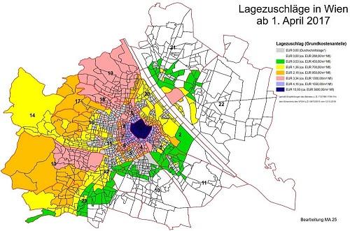 Lagezuschläge in Wien - Quelle: MA 25
